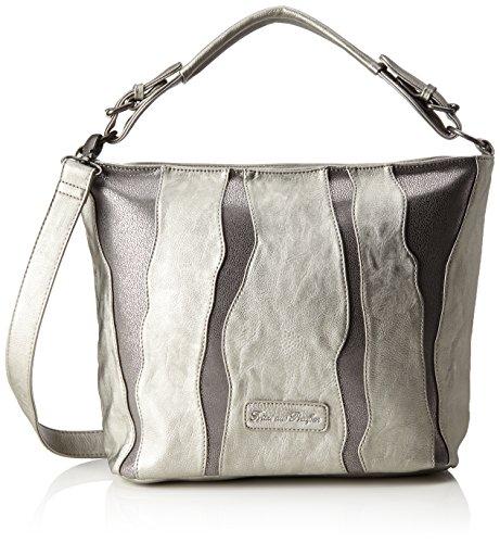 Fritzi aus Preussen Rahel - Shoppers y bolsos de hombro Mujer Plateado (Silver)
