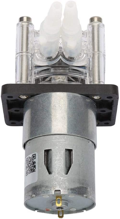 Tonysa Pompe p/éristaltique Plage de d/ébit 0-400 ML//Min DC 24V Haut d/ébit Pompe Auto-amor/çante p/éristaltique sous Vide r/ésistant /à la Corrosion avec Moteur DC 6,4mm ID /× 9,6mm OD