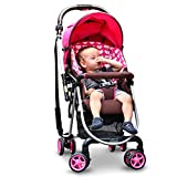 Baby Stroller for Newborn and Toddler - Convertible Bassinet Stroller Compact Single Baby Carriage Toddler Seat Stroller One-Click Folding to Avoid Vibration