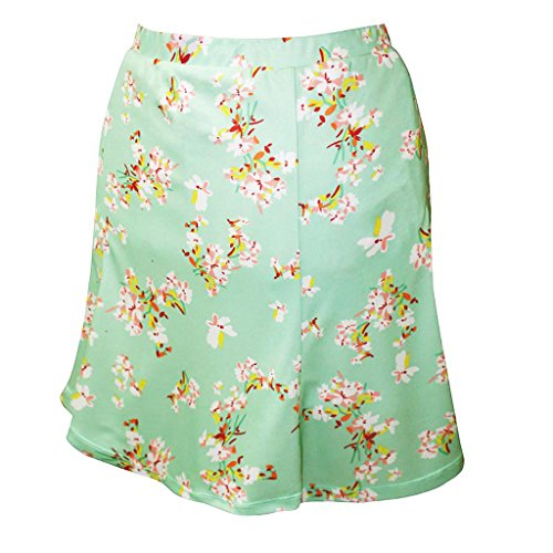 - Monterey Club Ladies Dry Swing Blossom Print Fun Pull-on Skort #2916 (Mint Green/Butter, Medium)