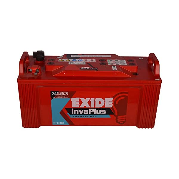 Exide Technologies Inva Plus Battery 150Ah/12V (Red) 2021 June Material: plastic and lead acid Colour: red Item package quantity: 1