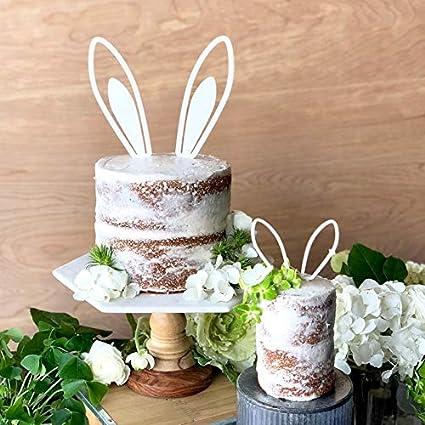 Bunny Ears Cake Topper Somebunny Topper Acrylic Or Wood Amazon