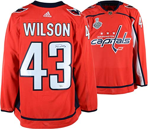 save off f585c a0603 Tom Wilson Washington Capitals 2018 Stanley Cup Champions Autographed Red  Adidas Authentic Jersey with 2018 Stanley Cup Final Patch - Fanatics ...