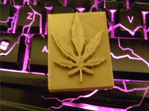 marijuana stamp for soap polymer clay and pottery