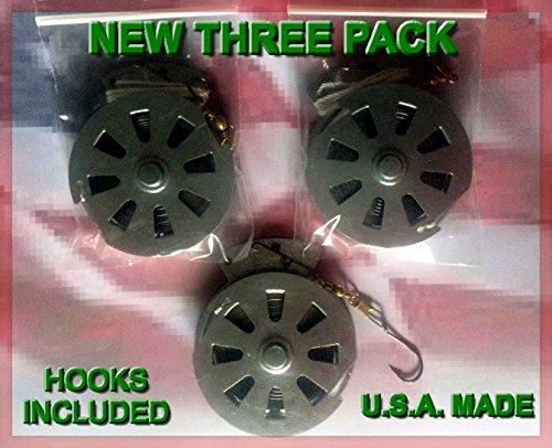 3 Mechanical Fisher's Yo-Yo Automatic Fishing Reels - Package of 3 Reels...