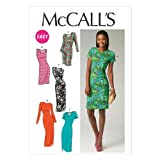 McCall Pattern Company M6886 Misses' Dresses Sewing Template, Size A5 (6-8-10-12-14)