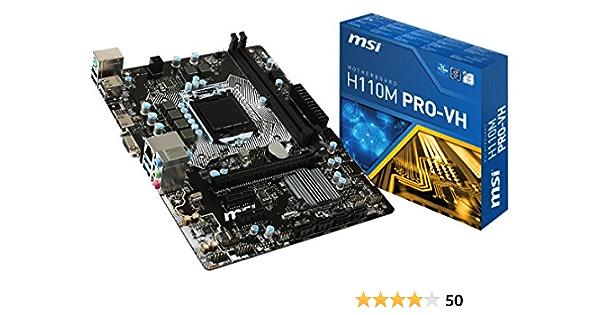 MSI H110M Pro-VH - Placa Base (zócalo LGA 1151, DDR4-2133, 4 x SATA 6 GB/s, 2 x PCI-E x1, USB 3.1 y 2.0): Msi: Amazon.es: Informática