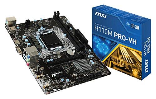 MSI Intel LGA1151 H110M Pro-Vh HDMI Micro ATX Motherboard