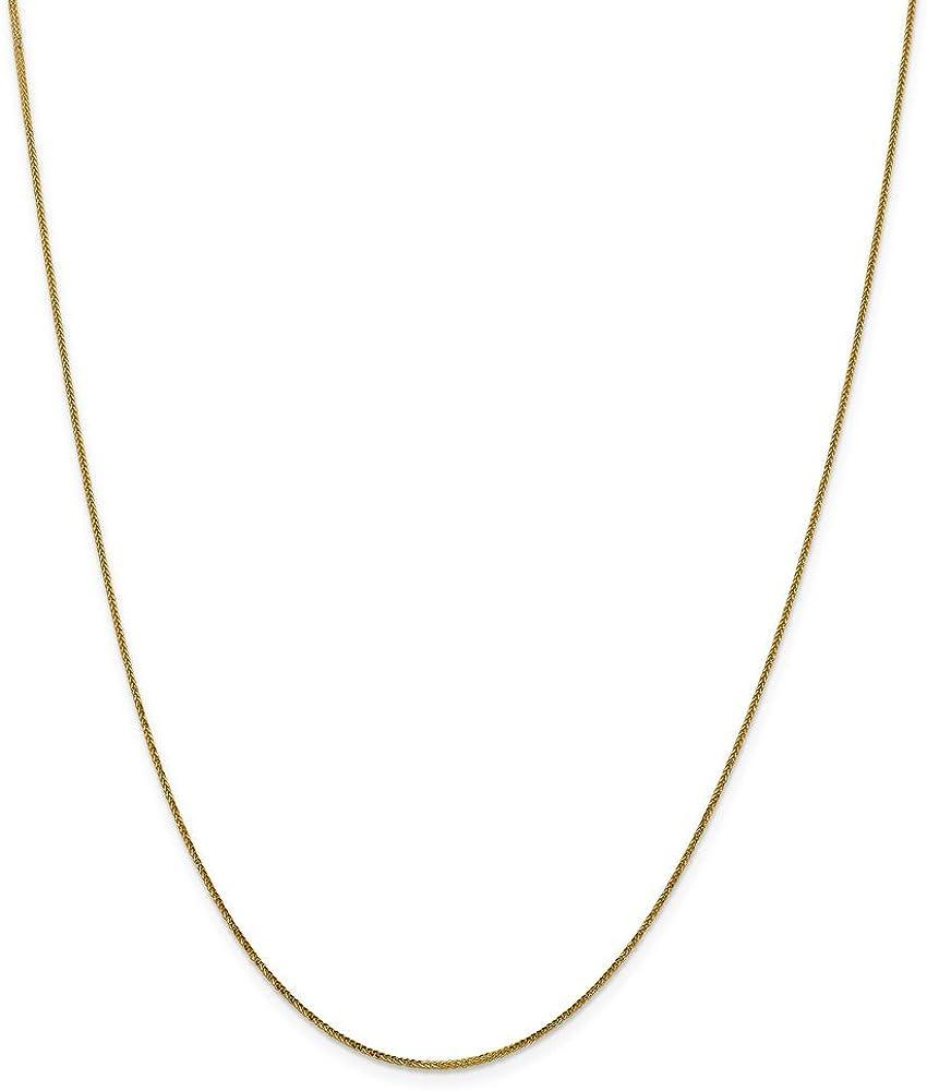 Leslies Real 14kt Yellow Gold .8 mm Diamond-cut Quadra Wheat; 16 inch