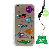 iPhone 6S Case, CKCY Cute Googly Moving Eyes Series Back Case Slim Fit for Apple iPhone 6 / iPhone 6s 4.7 Inch (Fish 1#)