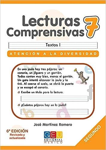 Lecturas comprensivas SCRIPT 07: José Martinez Romero: 9786077260417: Amazon.com: Books