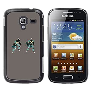 LECELL--Funda protectora / Cubierta / Piel For Samsung Galaxy Ace 2 I8160 Ace II X S7560M -- Robots Art Drawing 3D Figure Gaming Man --