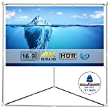 Projector Screen Stand Outdoor Portable – EleTab 100 Inch 16:9 Movie Projection Screen Wrinkle-Free with Triangle Stand for Home Theater, Gaming, Office