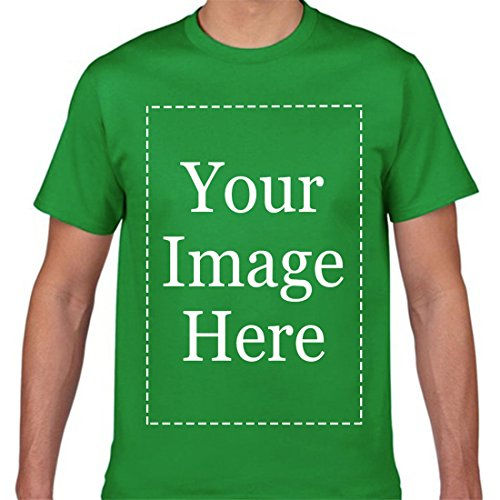 Image Adult T-shirt - Custom T Shirts for Men Personalized Text Name Image or Message Unisex T-Shirt KellyGreen M