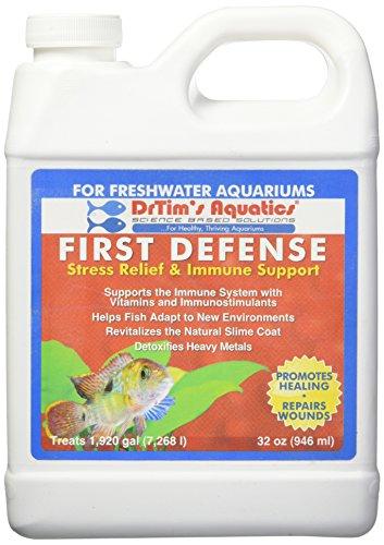 - DrTim's Aquatics First Defense Aquarium Stress Relief & Immune Support, Freshwater 32 oz