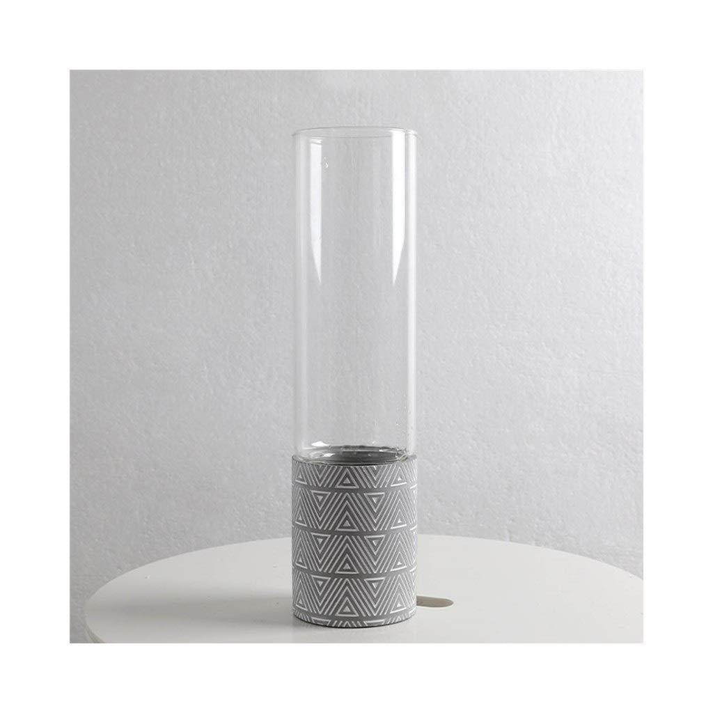 ガラス花瓶北欧クリエイティブ装飾品現代のミニマリストの花透明な水耕の花瓶 (Size : 34.8cm*9cm) B07ST9XF6G  34.8cm*9cm
