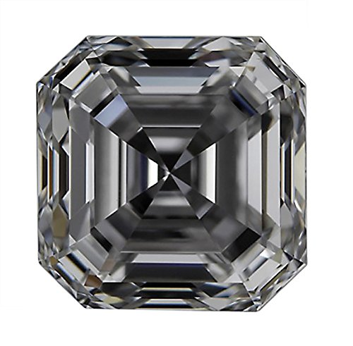 GIA Certified Asscher Cut Natural Loose Diamond 1.01 Carat E Color VS1 Clarity - 1 Ct - Vs1 Clarity Loose Diamond