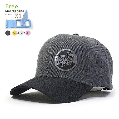 Adjustable Premium Baseball Cap (Premium Plain Wool Blend Adjustable Snapback Hats Baseball Caps (Black/Charcoal Gray))