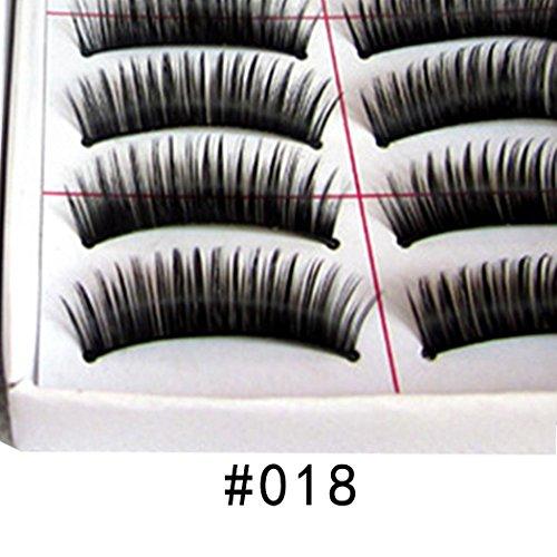 Dongtu 10 Pairs 5 Styles Lashes Handmade False Eyelashes Set Professional Fake Eyelashes Pack,10 Pairs Eyes Lashes Each Style,Very Natural Soft and Comfortabl Lash Enhancers & Primers