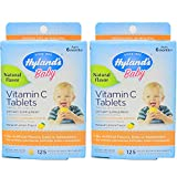 Hyland's Baby Vitamin C Tablets, 125 Tablets ea (Value Pack of 2) For Sale