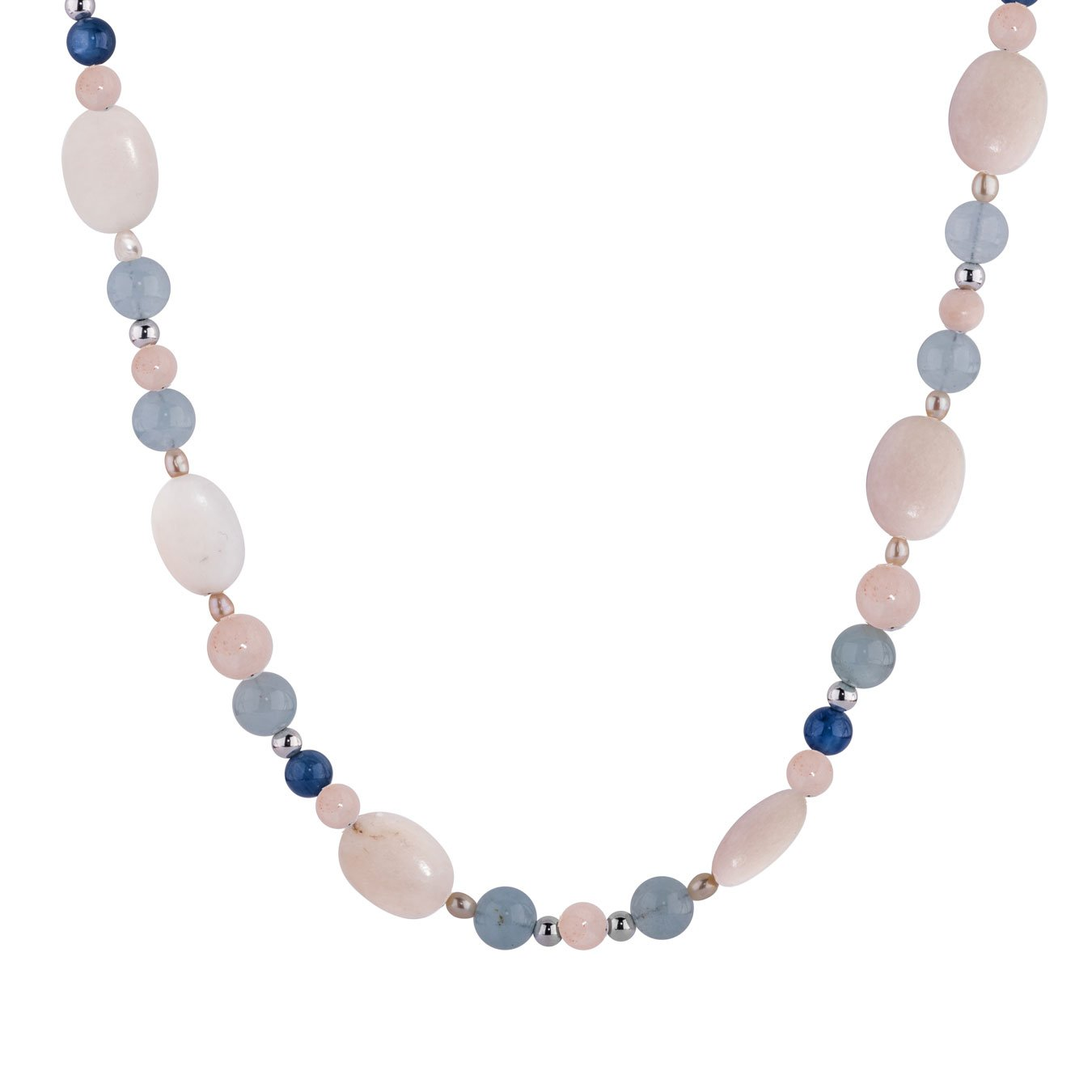 Carolyn Pollack Sterling Silver & Shades of Sunrise Beach 32 Inch Beaded Necklace