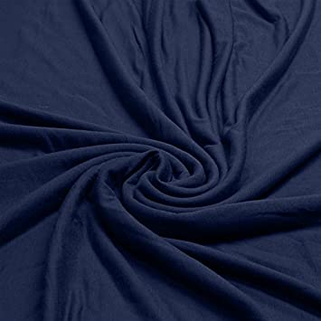 7b2eb3d45d0 Plain Viscose Elastane Stretch Jersey Fabric 150 cm wide per metre (Navy)