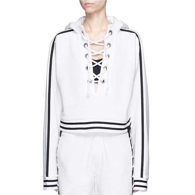 da5bb3718a1 Fenty Puma By Rihanna Rising Sun Lace-Up Hoodie White X-Small  Amazon.ca  Clothing    Accessories