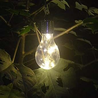 1 Pc Solar Bombilla Solar Pera, bbtxs LED Solar Bombilla Lámparas para colgar resistente al