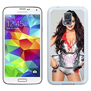 Customized Samsung Galaxy S5 I9600 Cell Phone Case Wwe Superstars Collection Wwe 2k15 Nikki Bella 06 in White Phone Case For Samsung Galaxy S5 Case