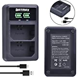 Batmax Ultra Slim LED Display Dual USB Battery Charger for Sony NP-FZ100, BC-QZ1 and Sony Alpha 9, Sony A9, Sony Alpha 9R, Sony A9R, Sony Alpha 9S Digital Camera