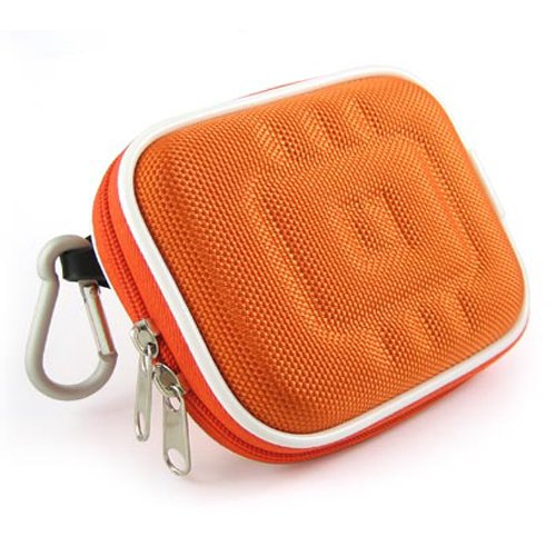 Kroo Orange NYLON Universal Digital Camera Case