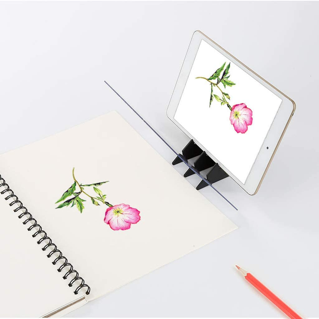 ZERIRA Portable Optical Drawing Board Sketching Tool Acrylic Drawing Sketching Tool Zero-Based Wizard for Beginners and Kids
