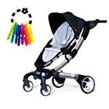 4moms Origami Stroller in Silver with Rattle Toy