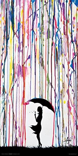 Dandelion Umbrella Contemporary Decorative Unframed