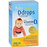 Ddrops Liquid Vitamin D Baby Drops, 400 IU each, 90 Drops (Pack of 8)