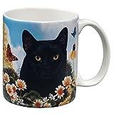 Black Cat Garden Party Fun Mug by Animal World