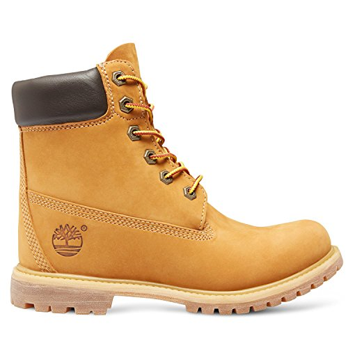 "Timberland 6"" Premium Boot With Wedge Mujer Botas Tostado Marrone Chiaro"