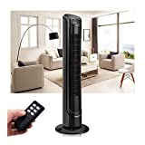 40'' LCD Tower Fan Digital Control Oscillating Cooling Air Conditioner Bladeless