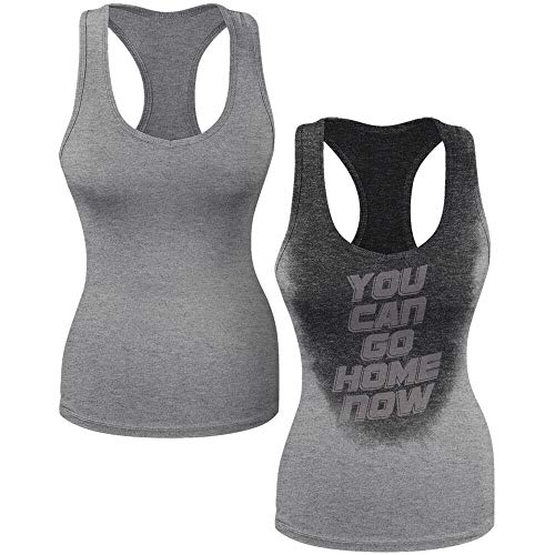 Sweat Activated Women Tank Top | Fashion Sleeveless Shirt | You Can Go Home Now
