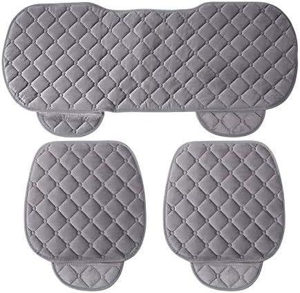 3 PCS//Set Universel Confortable Carr/é Doux Coton Si/ège De Voiture Coussin Avant Arri/ère Si/ège Couvre Auto Chaise Pad Mat Voiture Fournitures
