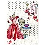 Evolur Home Pink Dress Vanity Nursery Rug