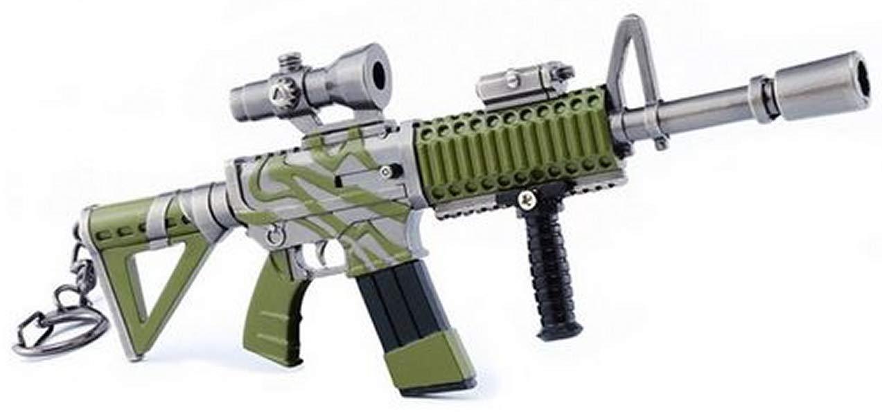 ARUNDEL SERVICES EU Ametralladora Llavero de Metal Videojuego Llavero Pistola Juguetes Llavero Colecci/ón Regalo