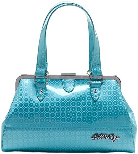 Sourpuss-Purse-Bettie-Page-Centerfold-Pinup-Rockabilly-SPPU104-Turquoise