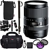 "Tamron 16-300 mm (6 Year USA Warranty) AFB016C700 F/3.5 6.3 Di II VC PZD Macro Interchangeable Lens for Canon Cameras + 72"" Monopod + Polaroid Filter Kit + Ritz Gear Bag Polaroid Accessory Bundle"