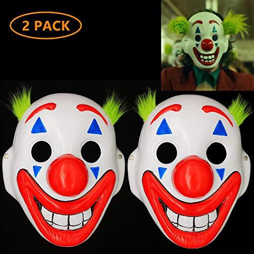Halloween Ii 2019 Mask (2019 Joker Mask Arthur Fleck Masks Cosplay Movie Clown Halloween Costume-2)