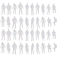 Homyl Scala 1/50 Miniatura di Figura Architettonica di Persone in Miniatura Modello da 40 Pezzi