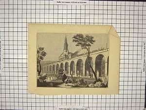 Impresión Antigua del Viaducto Ferroviario Inglaterra del Tren de Londres Greenwich de la Visión