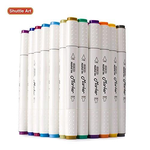 Permanent Sketch Book: Shuttle Art 50 Colors Dual Tip Art Markers,Permanent