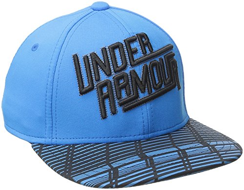 Under Armour Boys' Eyes Up 3.0 Flat Brim Stretch Fit Cap, Electric Blue (428)/Black, Youth X-Small/Small -  UNDRJ