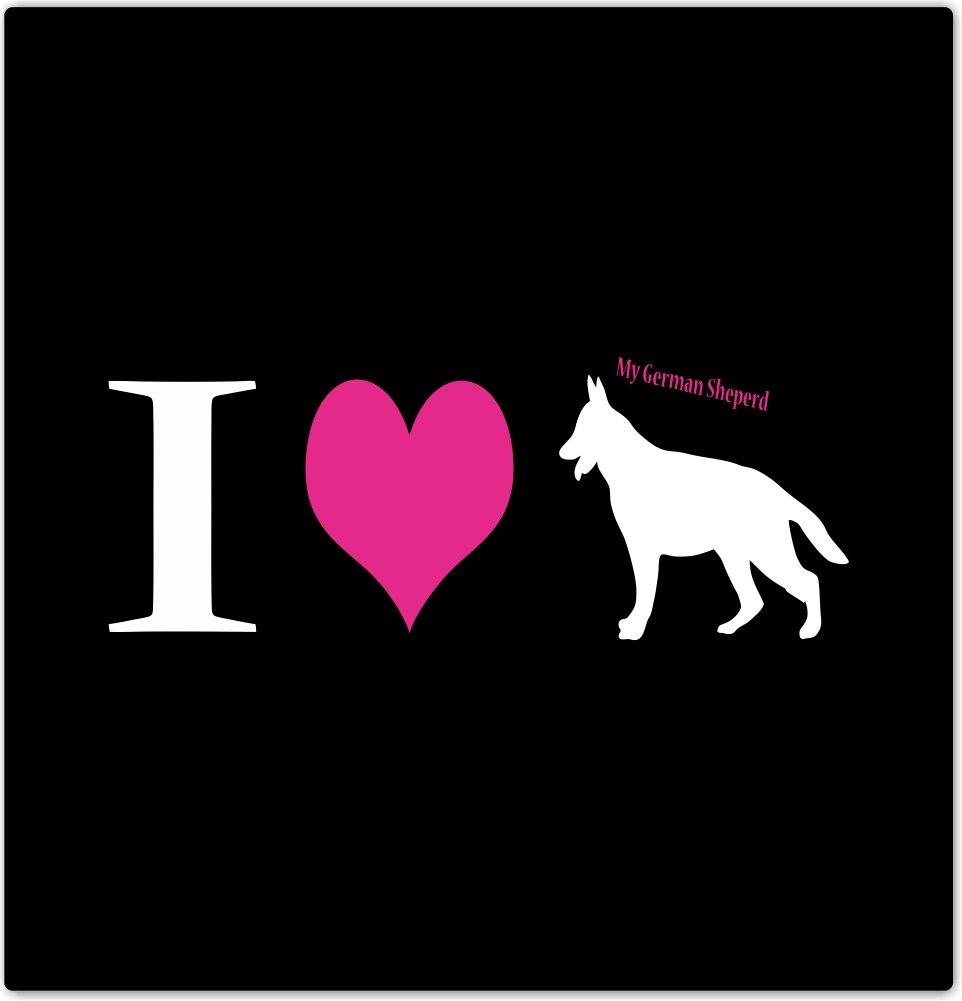 4 by 4 Rikki Knight I Love My German Sheperd Dog Design Ceramic Art Tile